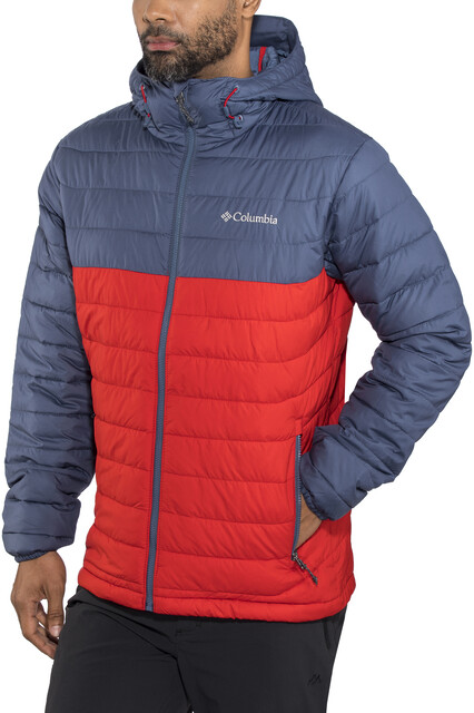 Columbia Powder Lite Capuchon Jas Heren, red sparkdark mountain